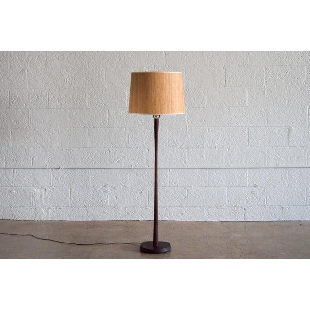 Laurel Mid Century Modern Teak Floor Lamp - Image 2 of 6