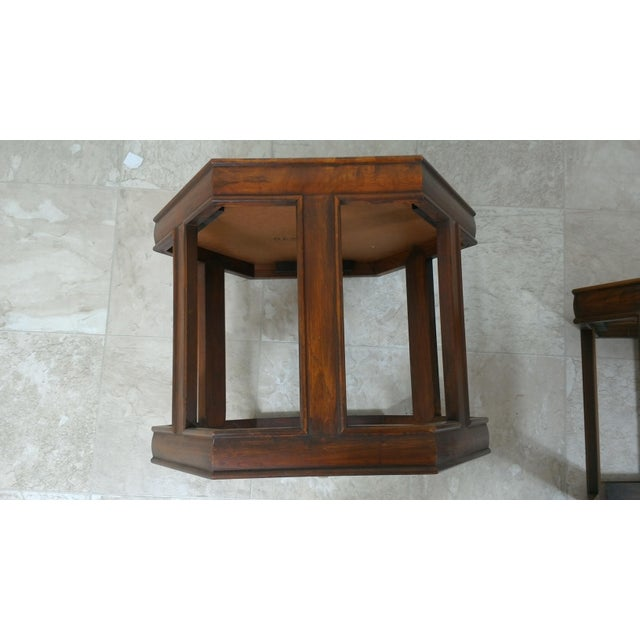 Mid-Century Modern 1960s Mid-Century Modern Brown and Saltman End Tables - a Pair For Sale - Image 3 of 12