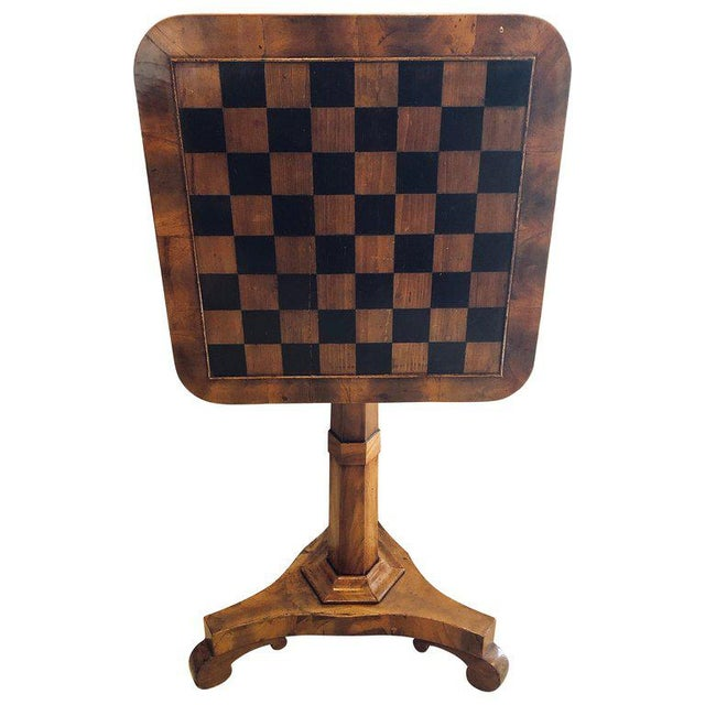 A 19th Century English Tilt Top Game Checkerboard or Card Table For Sale - Image 11 of 11