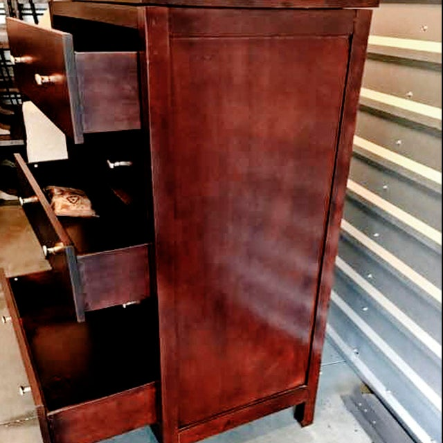 5 Drawer Solid Radiata Wood Multi-Coat Espresso Finished Dresser From Epoch by Design For Sale - Image 9 of 13