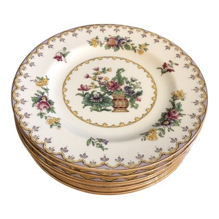 "Early 20th Century England Spode 6"" Bread and Butter Plates - Set of 8 For Sale"