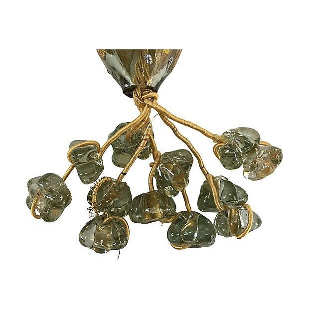 Mediterranean Boho Chic Mediterranean Hand Blown Glass Worry Beads Wall Hanging For Sale - Image 3 of 6