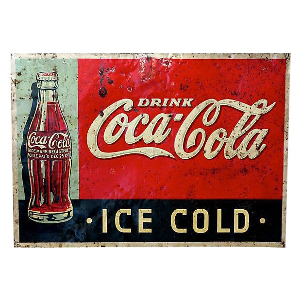 1920s Coca-Cola Advertising Sign - Image 1 of 6