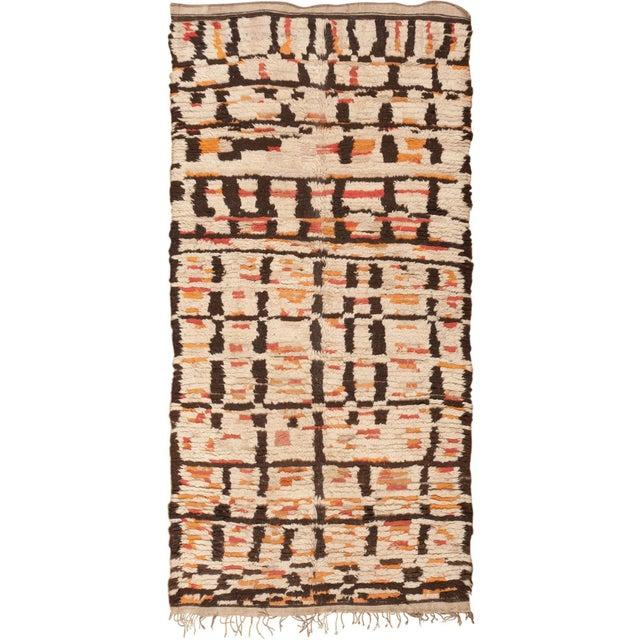 Textile Vintage Moroccan Rug - 4′8″ × 9′2″ For Sale - Image 7 of 7