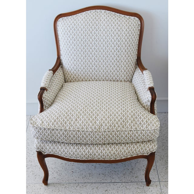 Wood Vintage French-Style Newly Upholstered Bergere Chairs - Pair For Sale - Image 7 of 13