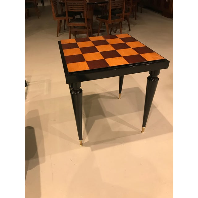 1940s French Art Deco Ebony Game Table or Centre Table For Sale - Image 10 of 11