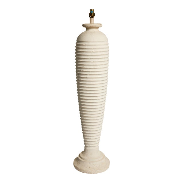 Vintage Plaster Sculptural Floor Lamp For Sale