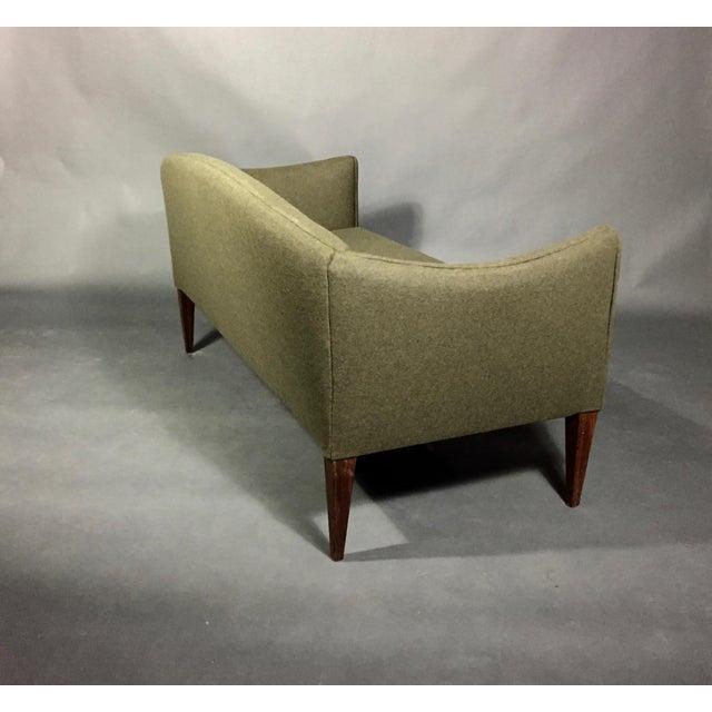 Fabric Illum Wikkelsø 2-Seat Wool Sofa, Denmark 1960s For Sale - Image 7 of 12