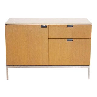Florence Knoll Two Position Cabinet For Sale