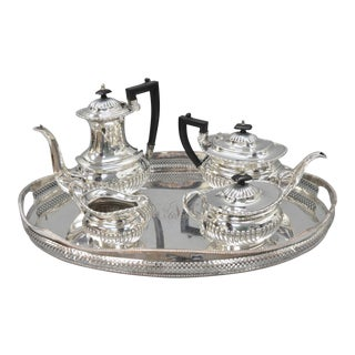 Sheffield England Silverplate Tea Set & Serving Tray