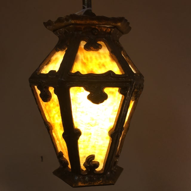 Early 20th Century Arts & Crafts Era Hanging Pendant Light For Sale - Image 5 of 5