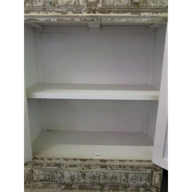 Storage Cabinet White Shabby Chic Sweetish Style Cupboard For Sale - Image 4 of 6