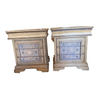 Brazilian Hand Painted Nightstands - a Pair For Sale