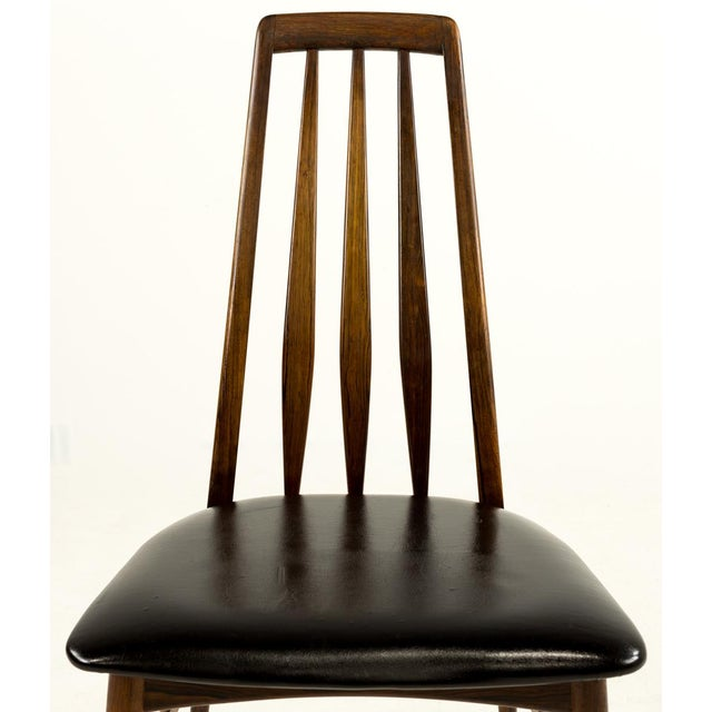 Black Mid-Century Modern Niels Koefoed Hornslet Rosewood Eva Dining Chairs - Set of 6 For Sale - Image 8 of 12