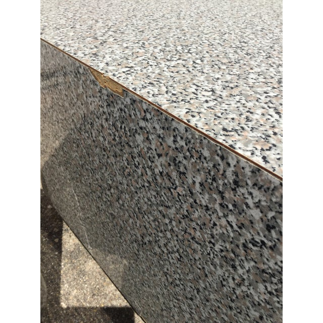 1980s AbstractGranite Laminate Modular Pedestal Table Set - 2 Pieces For Sale - Image 9 of 11