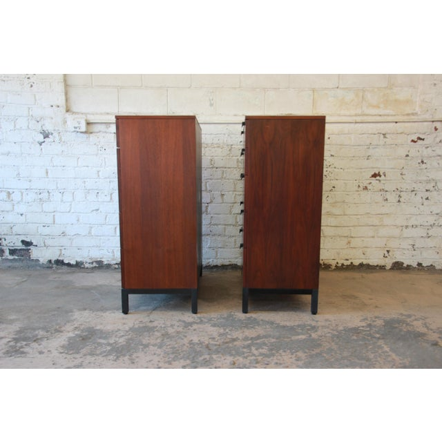 Milo Baughman for Directional Rosewood Highboy Dressers - A Pair For Sale - Image 11 of 11