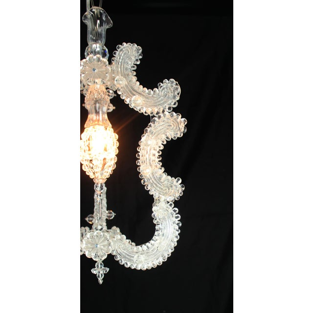 Italian Venetian Glass Pendant Lantern For Sale - Image 3 of 9