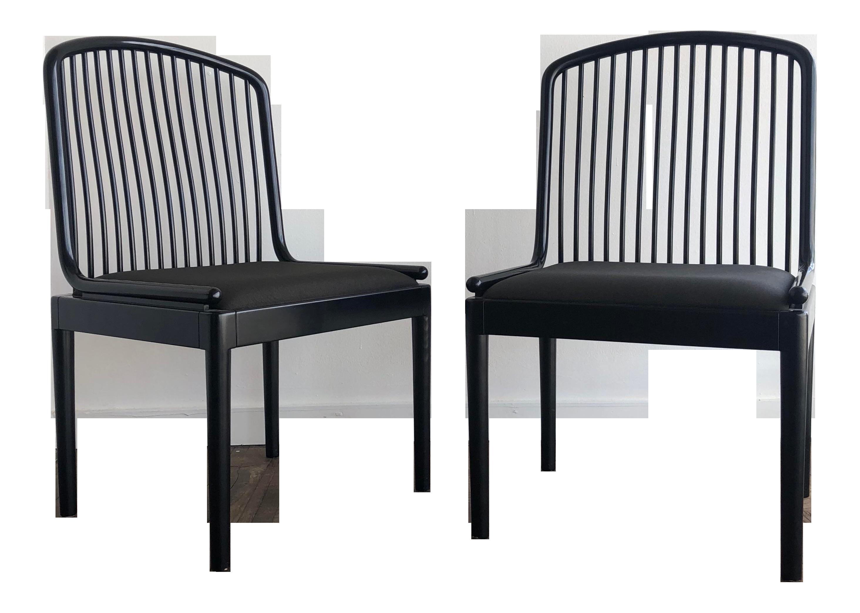 1960s Minimalist Davis Allen For Stendig Ebonized Exeter Side Chairs   A  Pair