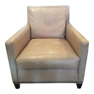 Lee Industries Leather Club Chair