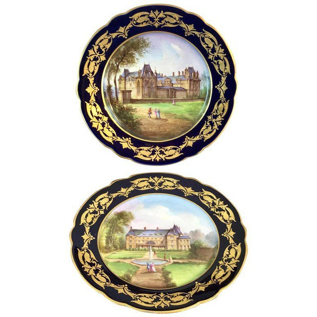 Pair of Sevres Chateau Plates For Sale - Image 13 of 13