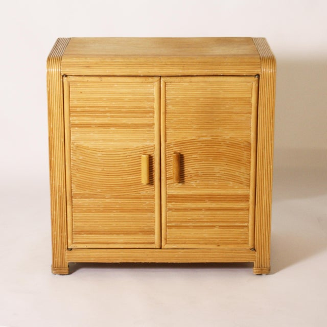 Wood 1950s French Split Bamboo Commode For Sale - Image 7 of 7