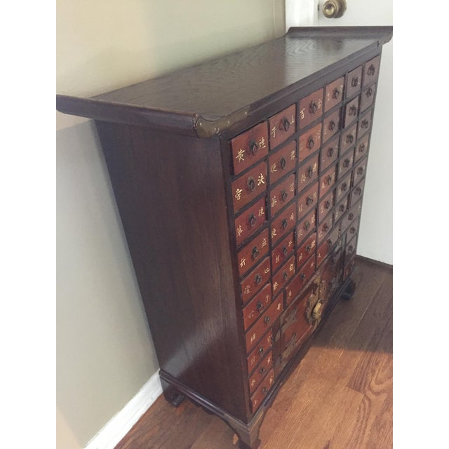 Asian Antique Korean Apothecary Chest For Sale - Image 3 of 5