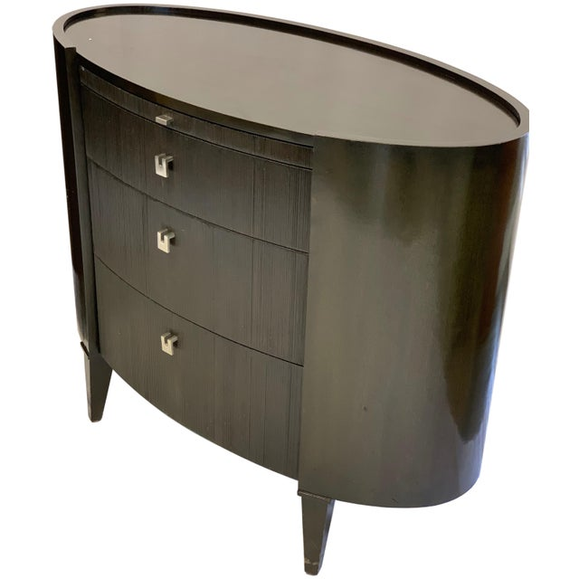 Art Nouveau Side Tables by Axis Furniture Black Wood - A Pair For Sale - Image 3 of 13