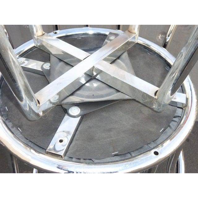 Chrome & Black Vinyl Bar Stools - Set of 4 - Image 11 of 11
