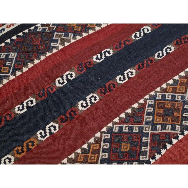 Red Antique Shavak Kilim For Sale - Image 8 of 8
