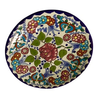 Vintage Talavera Plate From Mexico For Sale