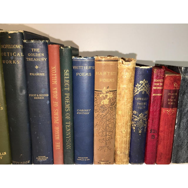 Late 20th Century Collection of Antique Poetry Books - Set of 16 For Sale - Image 5 of 7
