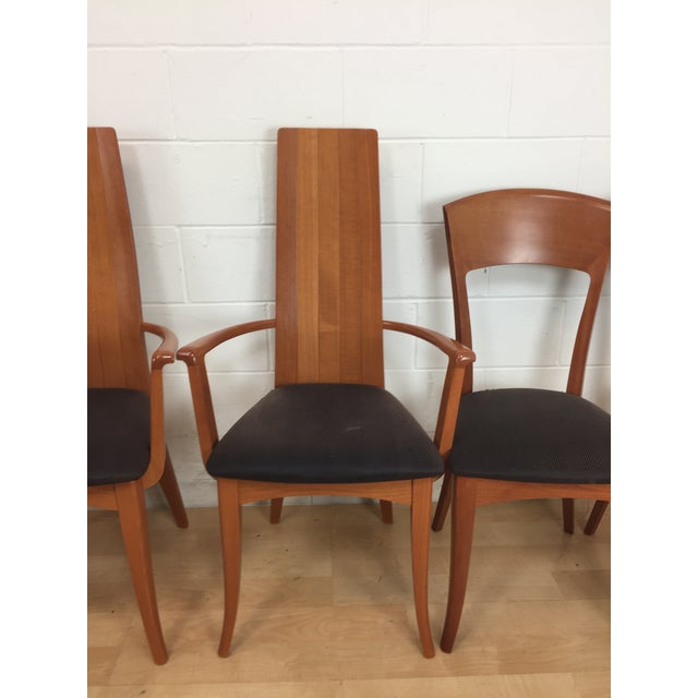 Mid-Century Modern A. Sibau Italian Mid-Century Modern Dining Chairs- Set of 6 For Sale - Image 3 of 11