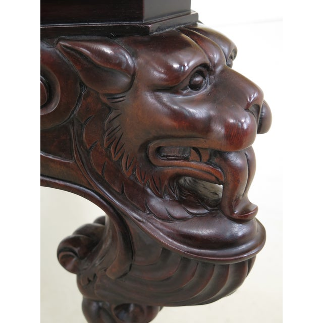Baker Stately Homes Russian Empire Lion Head Coffee Table For Sale In Philadelphia - Image 6 of 13