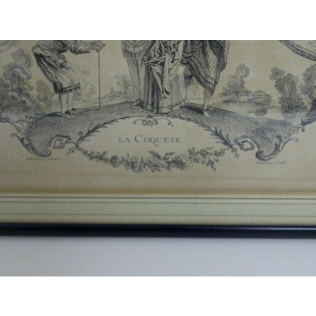 """Boucher """"La Coquette"""" by Apres Antoine Watteau Boucher For Sale - Image 4 of 7"""