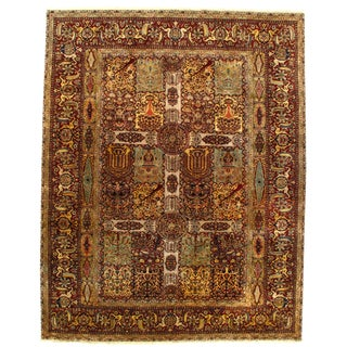 Pasargad Indo Agra New Zealand Wool Rug - 9′2″ × 11′7″ For Sale