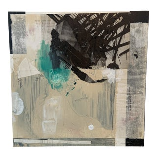 Contemporary Abstract Mixed-Media Painting by Ross Severson For Sale
