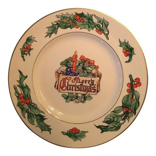 Merry Christmas Holly Mistletoe Walter R Duff Plate