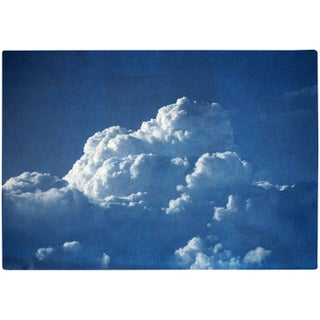 """""""Majestic Cloudy Sky"""" Contemporary Handmade Cyanotype Print by Kind of Cyan For Sale"""