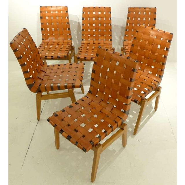 A rare and early set of six dining chairs designed by Danish-born Abel Sorenson, a charter member of the Knoll Planning...