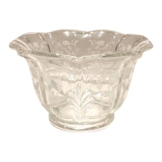 1930s Fostoria Navarre Etched Crystal Bowl For Sale