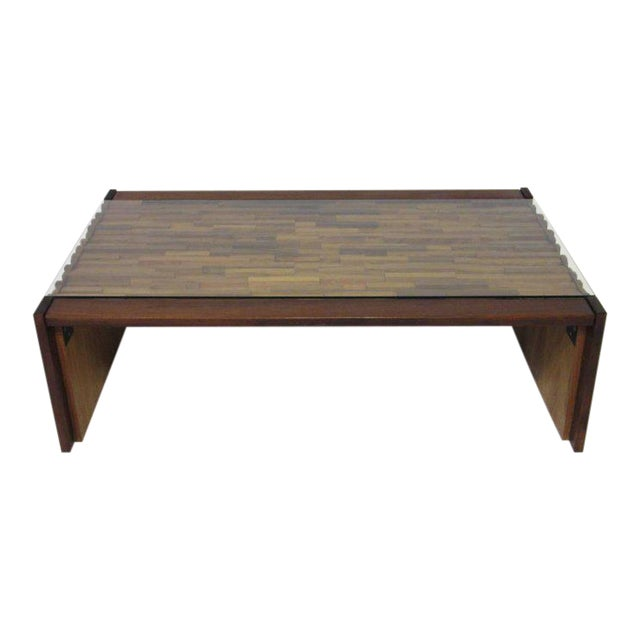 Percival Lafer Brazilian Rosewood Folding Coffee Table For Sale