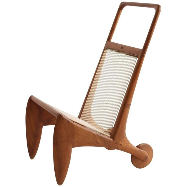 Brown Allen Ditson One Off Walnut and Cord Magazine Holder For Sale - Image 8 of 8