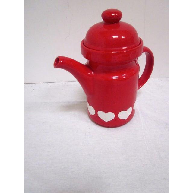 Waechtersbach German Red Heart Teapot - Image 7 of 7