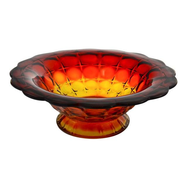 Amberina Petal Rim Centerpiece Bowl - Image 1 of 5