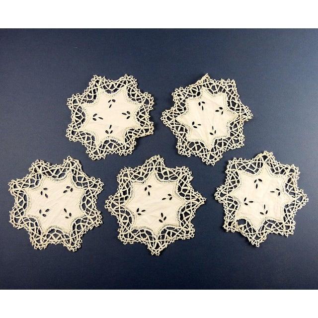 Vintage Lace Table Mat Set - Set of 17 For Sale - Image 4 of 7