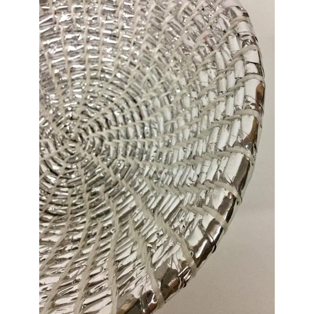 2010s Modern Artisan Hand Woven Repurposed Plastic Basket For Sale - Image 5 of 11