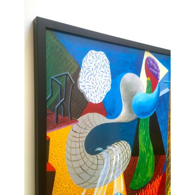 "David Hockney David Hockney Rare Vintage 1993 "" the Other Side "" Lithograph Print Framed Collector's Pop Art Exhibition Poster For Sale - Image 4 of 13"