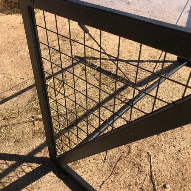 Modern 1980s Post-Modern Metal Glass Grid Desk For Sale - Image 3 of 10