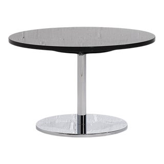 Nicos Zographos Granite and Chrome Side Table, 1970s For Sale
