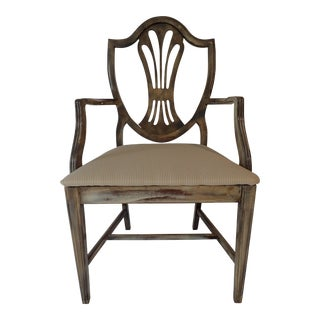Duncan Phyfe Style Side Chair Distressed Decor Finish 38.5H x 23D x 24W For Sale